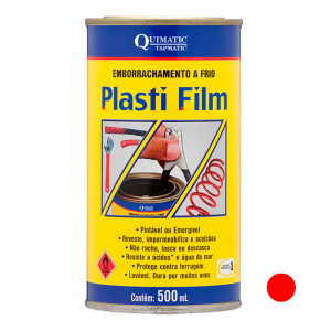 Plasti Film 500 ml Vermelho - 500 mL - QUIMATIC TAPMATIC