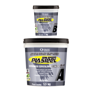 Plasteel Cerâmico Espatulável 5:1 - 6,5 kg - QUIMATIC